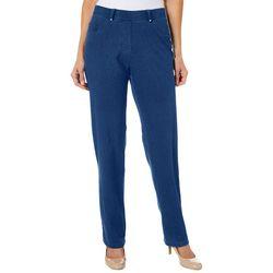 Cathy Daniels Womens Slim Fit Denim Pull On Pants