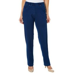Cathy Daniels Womens Pull On Slim Fit Ankle Pants