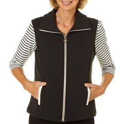 Cathy Daniels Womens Solid Textured Vest