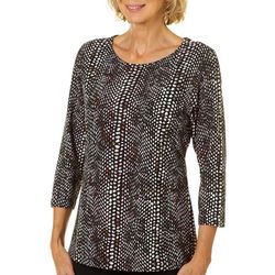 Cathy Daniels Womens Colorful Textured Top