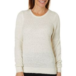 Cathy Daniels Womens Embellished Solid Pullover Sweater