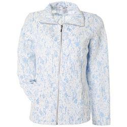 Cathy Daniels Womens Lace Zippered Long Sleeve Jacket