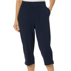 Cathy Daniels Womens Pull On Solid Knit Capris