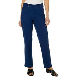 Cathy Daniels Womens Pull On Denim Stretch Pants
