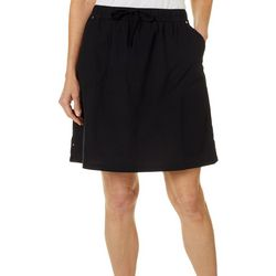 Cathy Daniels Womens Solid Drawstring Skort