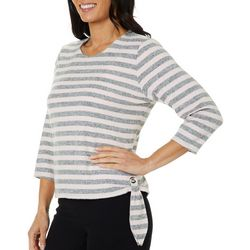 Cathy Daniels Womens Striped Side Tie Top