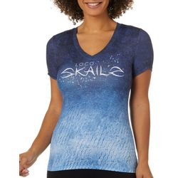 Loco Skailz Juniors Mesh Cave Diver Logo Short Sleeve Top
