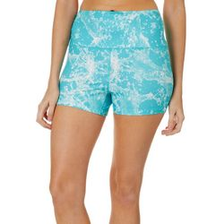 Loco Skailz Juniors Splash Waves Knit High Waisted Shorts