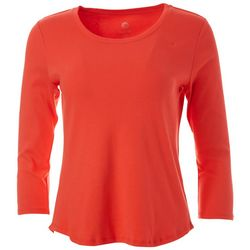 Ruby Road Favorites Petite Solid Round Neck Top
