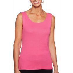 Ruby Road Favorites Petite Solid Scoop Neck Tank Top