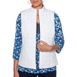 Petite Geo Print Reversible Vest