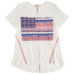 Lynn Ryan Petite American Flag Printed Sleevless Top