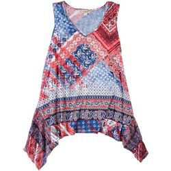 OneWorld Petite Abstract Print Tank Top