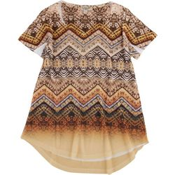 OneWorld Petite Mixed Animal Print Embellished Top