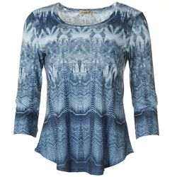 OneWorld Petite Boho Mixed Abstract Print Top