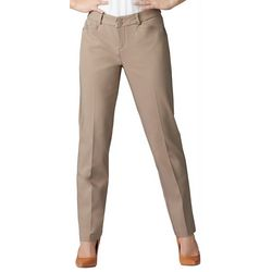 Lee Petite Straight Leg Plain Front Pants