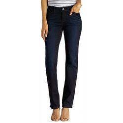Lee Petite Flex Motion Solid Straight Leg Jeans