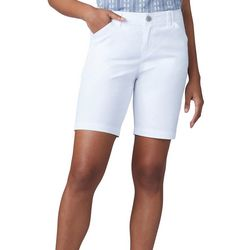 Petite Solid Regular Fit Chino Shorts