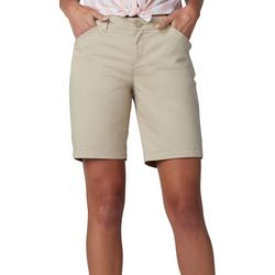 Lee Petite Solid Regular Fit Chino Shorts