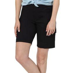 Lee Petite Womens Solid Bermuda Shorts