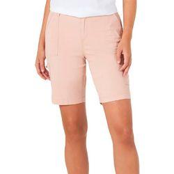 Lee Petite Elastic Waist Bermuda Shorts