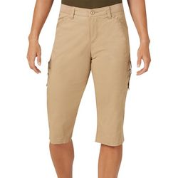 Lee Petite Flex-To-Go Solid Relaxed Fit Cargo Skimmer Capris