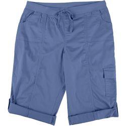 Fresh Petite Solid Pull On Skimmer Shorts