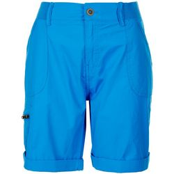 Fresh Petite Solid Pull On Hem Shorts