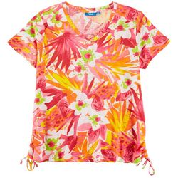 Fresh Petite Foliage Scrunched Side Top