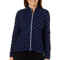 Onque Petite Polka Dot Zip Up Jacket