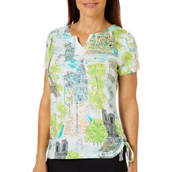 Onque Casual Petite Embellished Travel Side Tie Top