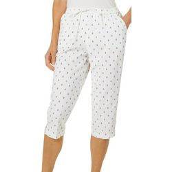 Cathy Daniels Petite Anchor Print Pull On Capris