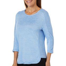 Cathy Daniels Petite Solid Heatset Embellished Top