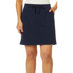 Cathy Daniels Petite Solid French Terry Drawstring Skort