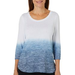 Cathy Daniels Petite Ombre Heatset Embellished Top