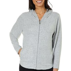 Cathy Daniels Petite Foil Dots Zip Up Hoodie