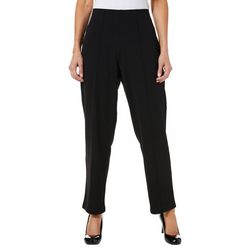 Cathy Daniels Petite Pull-On Stitched Crease Stretch Pants