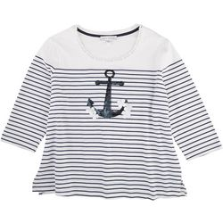 Emily Daniels Petite Sequin Sailor Top