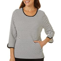 Cathy Daniels Petite Dotted Design Round Neck Sweater