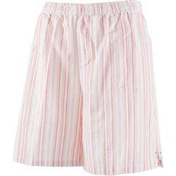 Emily Daniels Petite Sriped Pull On Shorts