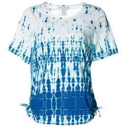 Cathy Daniels Petite Tie Dye Ruched Side Tie Top