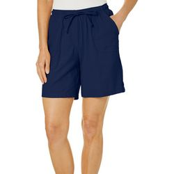 Cathy Daniels Petite Solid Drawstring Shorts