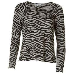 Emily Daniels Petite Zebra Long Sleeve Top