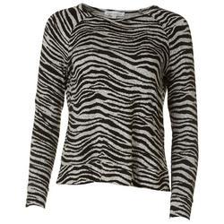 Petite Zebra Long Sleeve Top