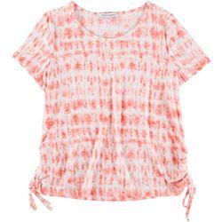 Emily Daniels Petite Tye Dye Tie Hem Top