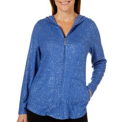 Cathy Daniels Petite Foil Dots Zip Up Jacket
