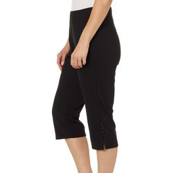 Cathy Daniels Petite Solid Pull On Stretch Bling Capris