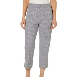 Cathy Daniels Petite Geo Print Pull On Crop Pants