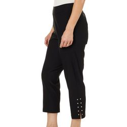 Cathy Daniels Petite Split Embellished Hem Ankle Pants