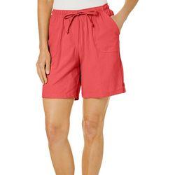 Cathy Daniels Petite Drawstring Pull On Shorts